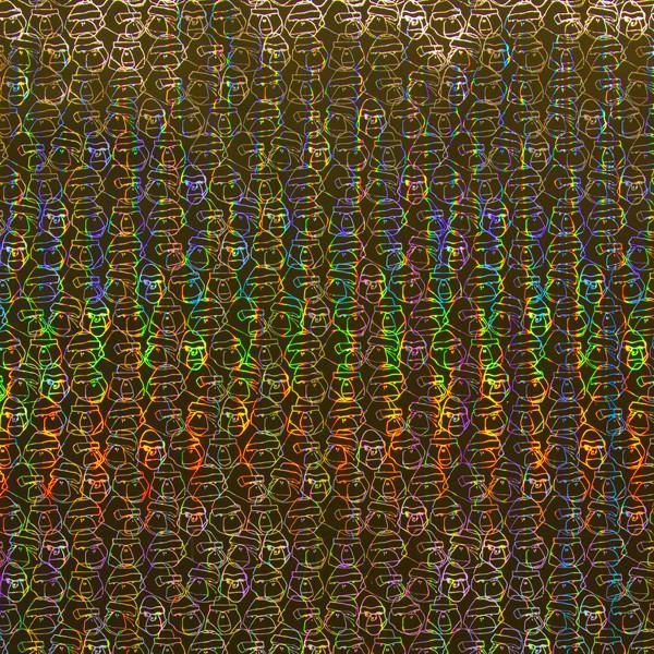 Gorillion Hollagram on Holographic Mylar Wallpaper by