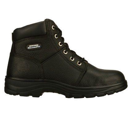 skechers work boots memory foam