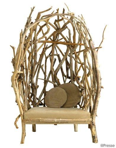 Le design prend racine bois flotte pinterest bois bois flott et mobilier - Chaise bois flotte ...