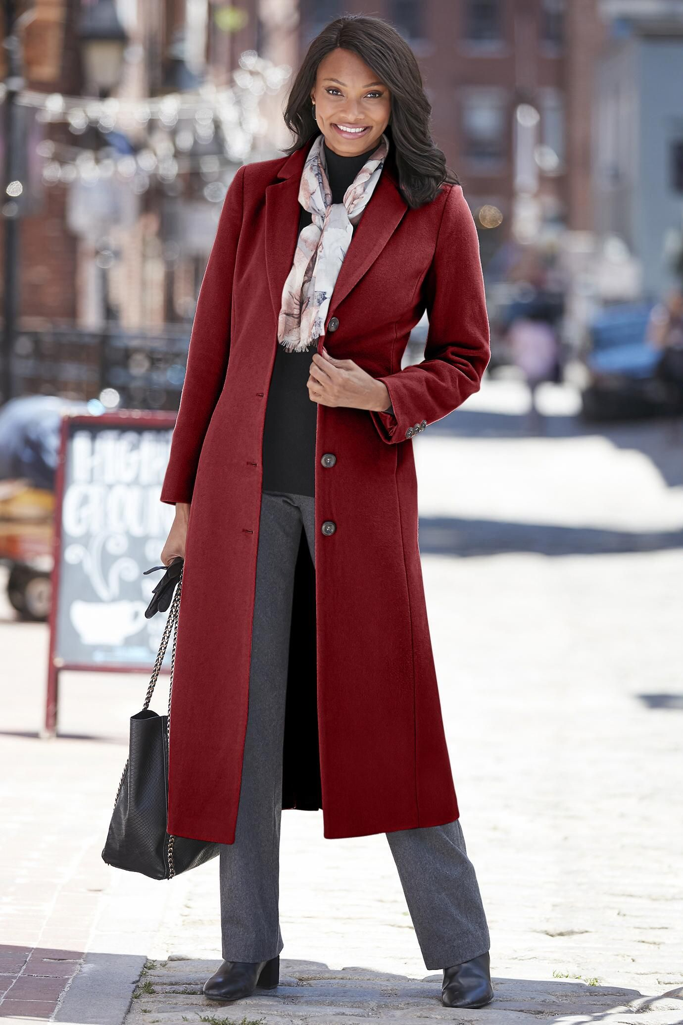 Long Wool Blend Coat Classic Women S Clothing From Chadwicksofboston 129 99 Long Winter Coats Women Coat Wool Blend Coat [ 2070 x 1380 Pixel ]