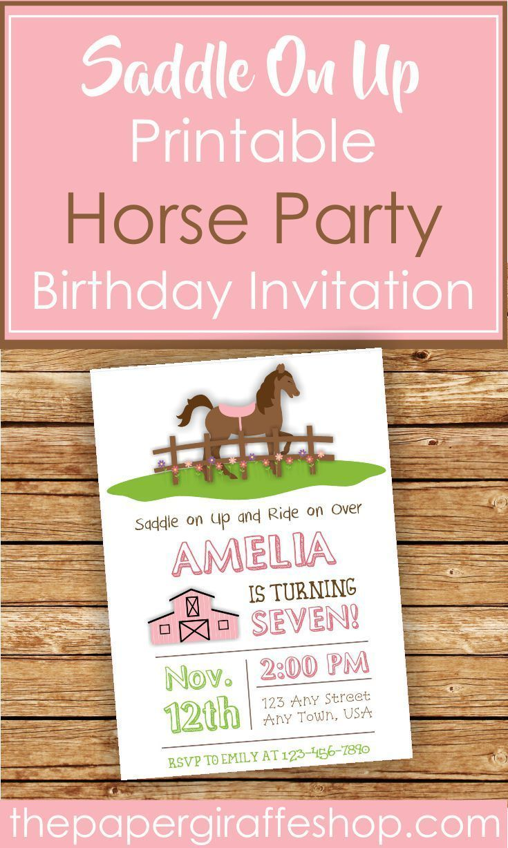 Saddle on up for some birthday fun with this Horse Birthday ...