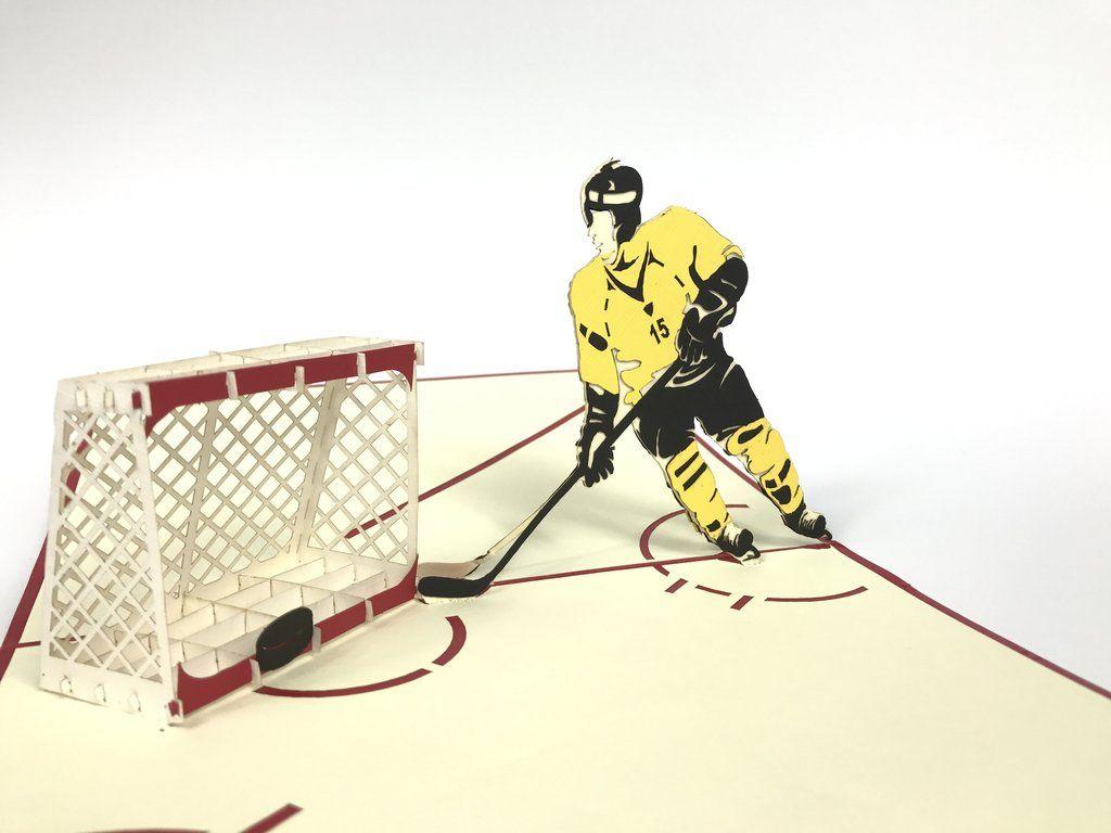 Hockey Pop Up Card In 2020 Pop Up Pop Up Cards Pop