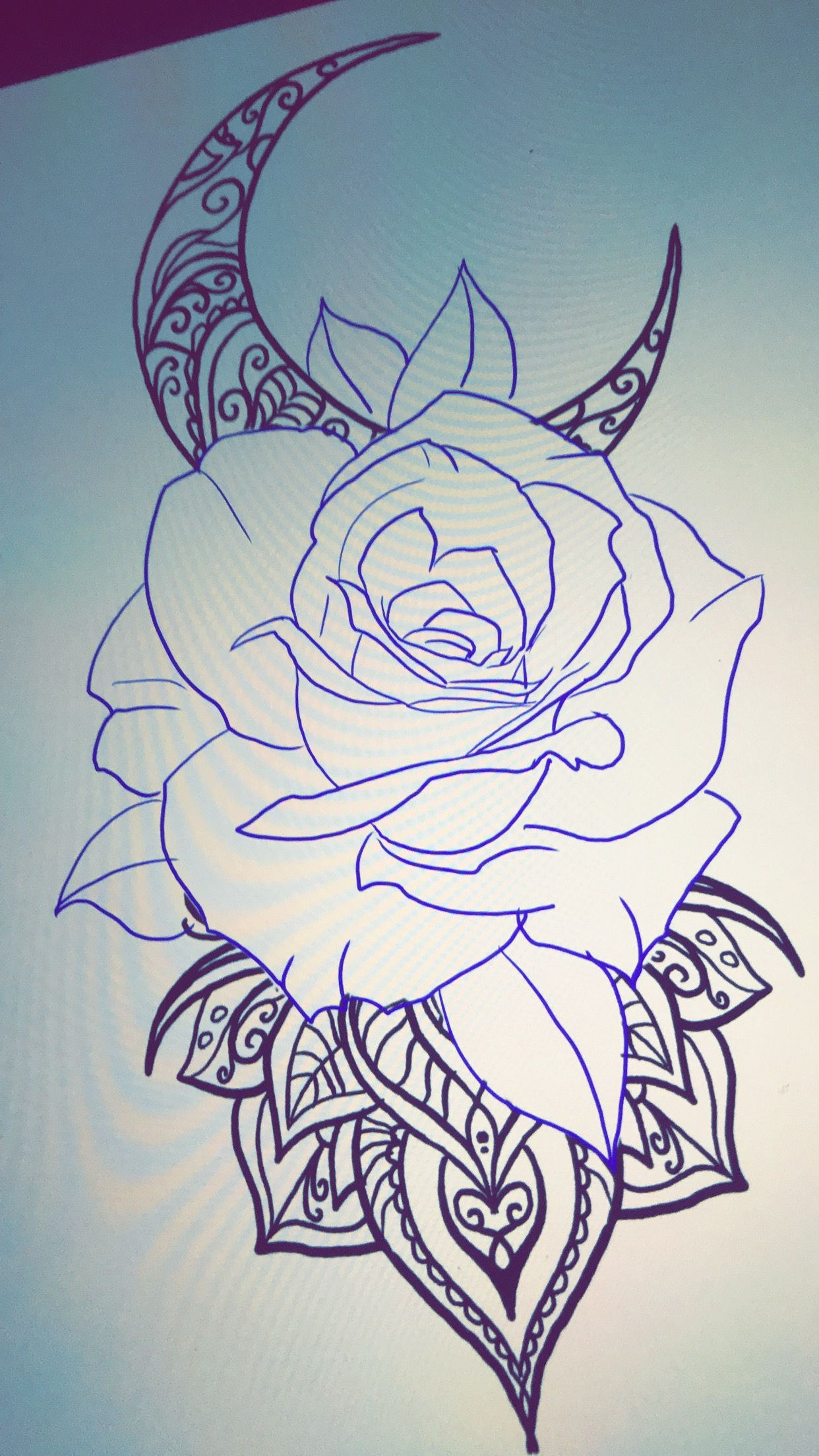Pin By Tattoo Sal On Art Rose Drawing Tattoo Abstract Tattoo Designs Clock And Rose Tattoo