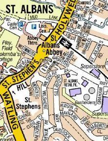 St Albans A Z Wall Map A Z Wall Maps Pinterest Wall maps St