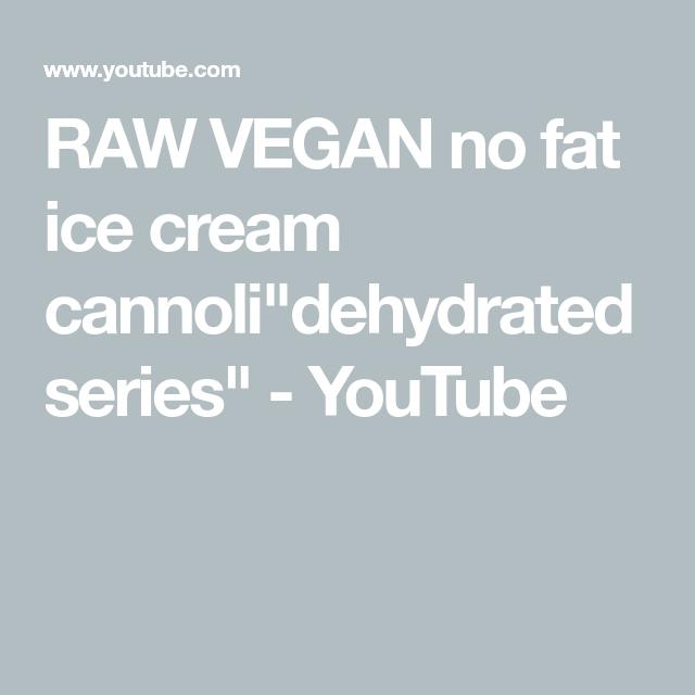 """Photo of Cannoli à la crème glacée sans gras RAW VEGAN """"série déshydratée"""""""