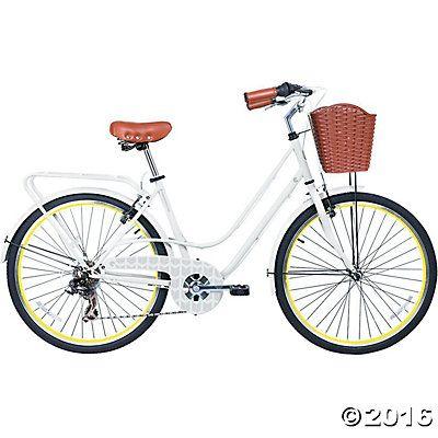 Women S 6 Speed Avenue Hybrid Commuter Bike Neon Commuter Bike Bicycle Road Bicycle