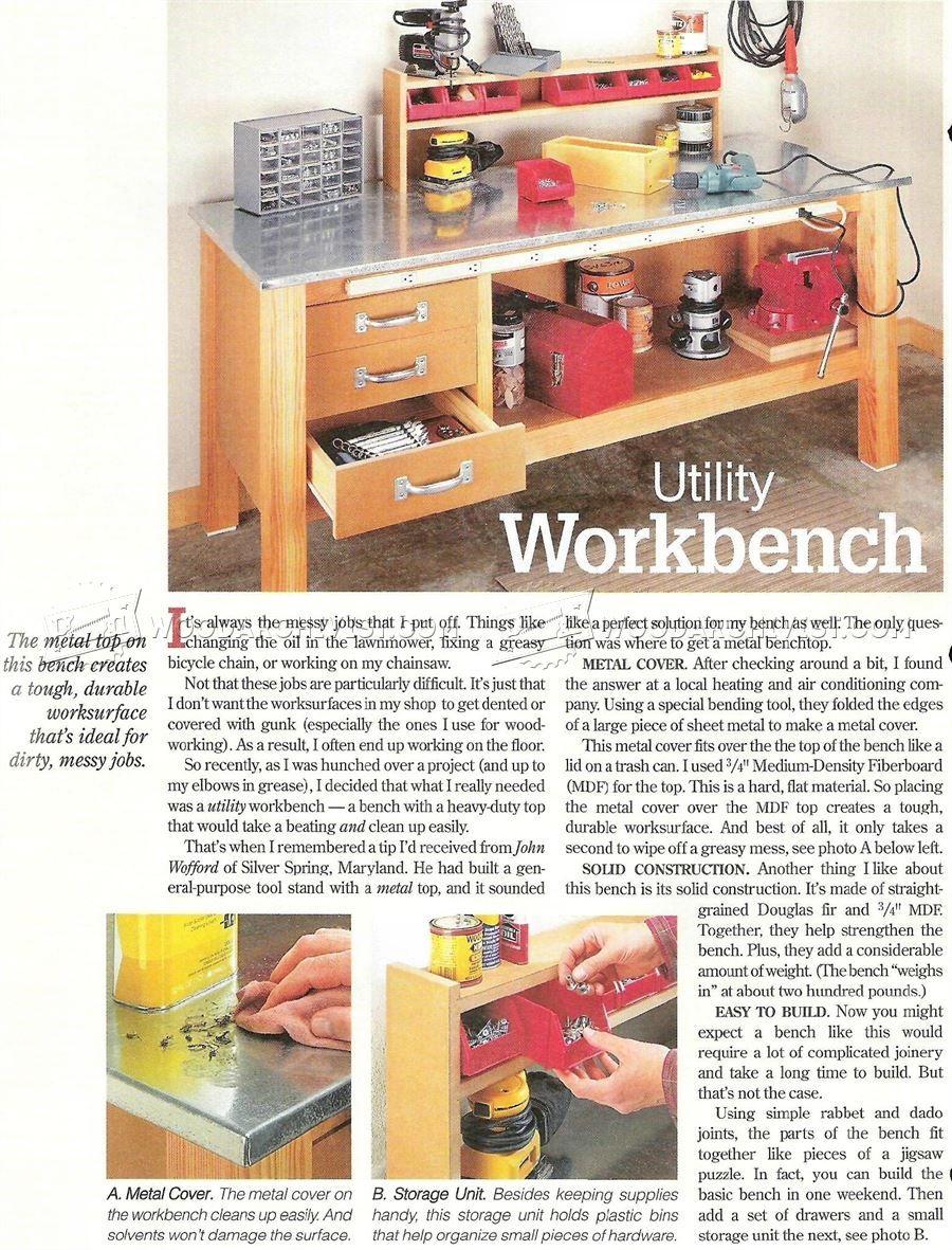 2111 Garage Workbench Plans - Workshop Solutions | work shops ...