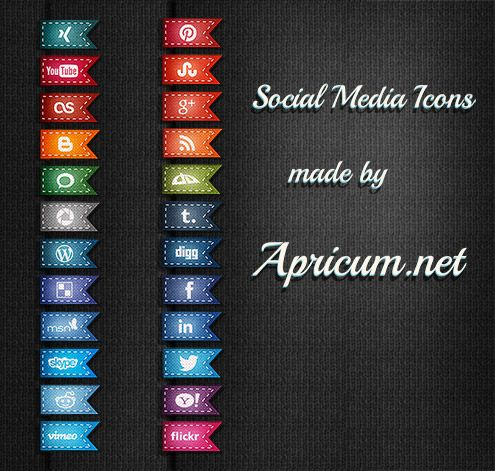 Free Social Media Buttons - All Free for Commercial Use | Marketing