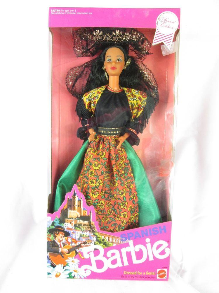 SPANISH Dolls of the World Barbie Doll #4636 Second Edition 1991 #spanishdolls