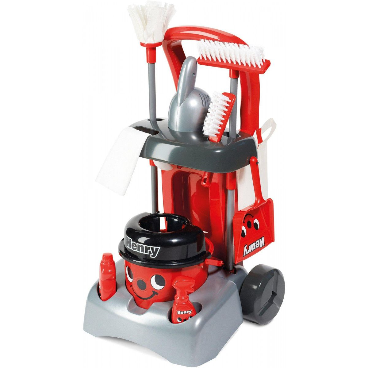 HENRY VACUUM CLEANER KIDS INCLUDES BRUSH AND DUSTPAN 100/% OFFICIAL NEW