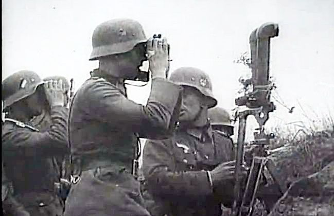 Before the advance glassing enemy lines, Poland, September 1939.