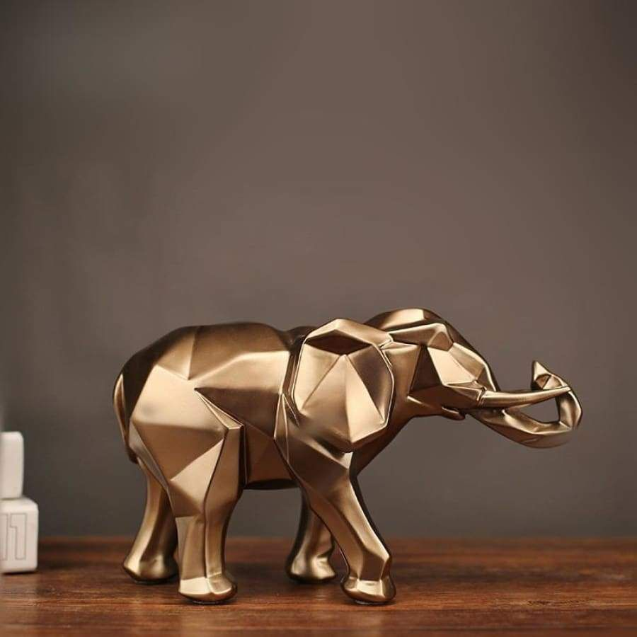 Photo of Abstract Golden Elephant  | Home Decor