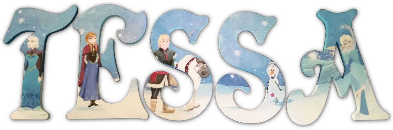 Custom Painted Disney Frozen Elsa Letters by ...