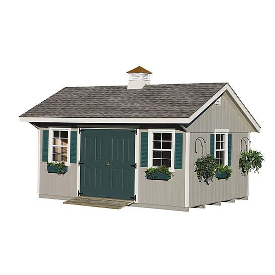 Garden Shed Homeplace By Suncast Bungalow Garden Building 12 Ft X 16 Ft Garden Buildings Garden In The Woods Outdoor Sheds