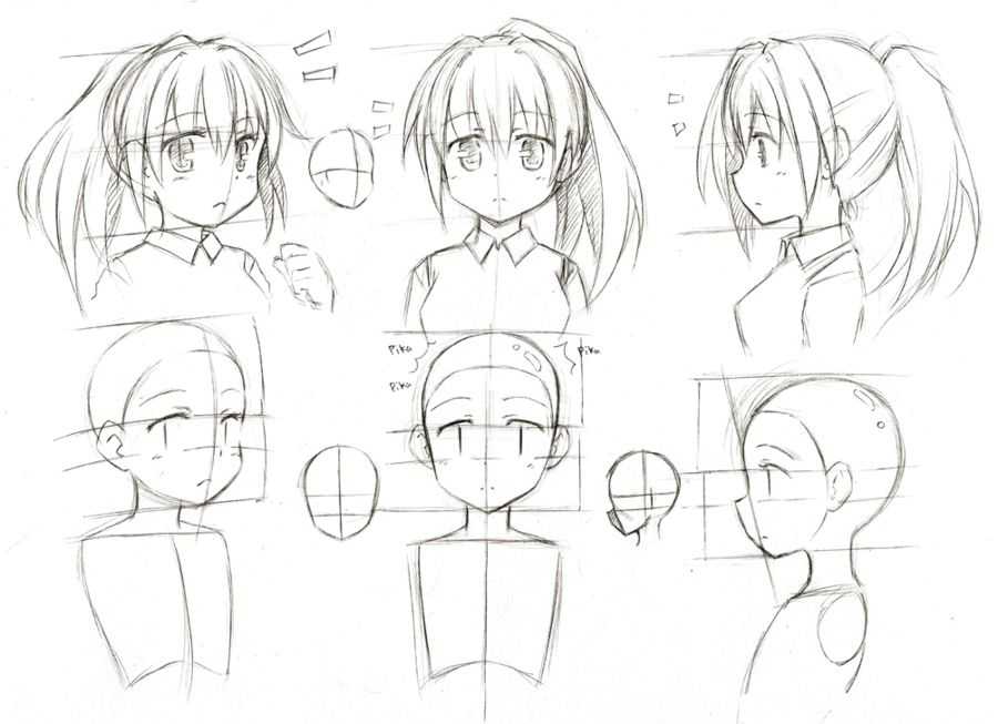 Different Positions Head Manga Drawing Tutorials Manga Drawing Anime Art Tutorial