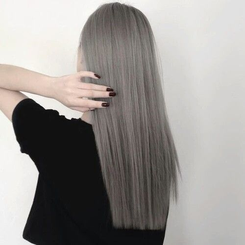 Cool Ash Grey Hair Color From 99 Percent Studio Darren Bloggie 達人的部落格