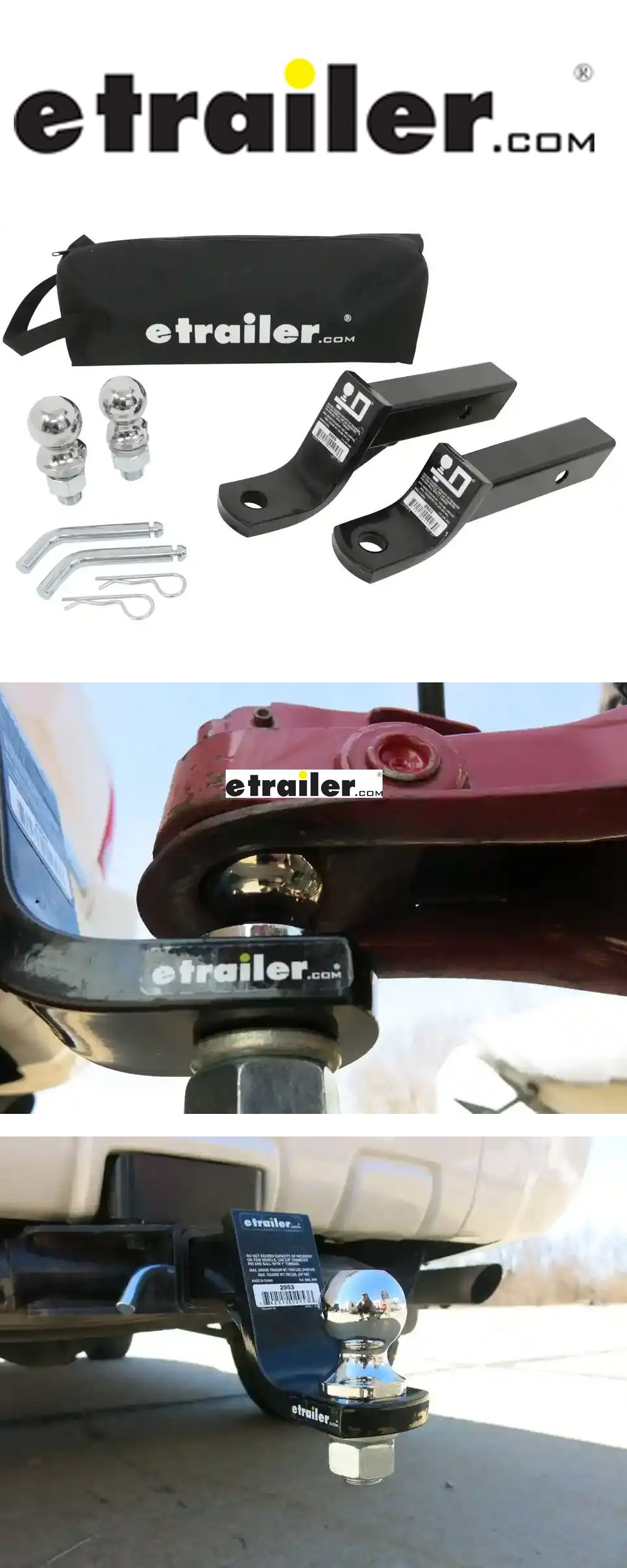 """etrailer Ball Mount Kit for 2"""" Hitches 7,500 lbs"""
