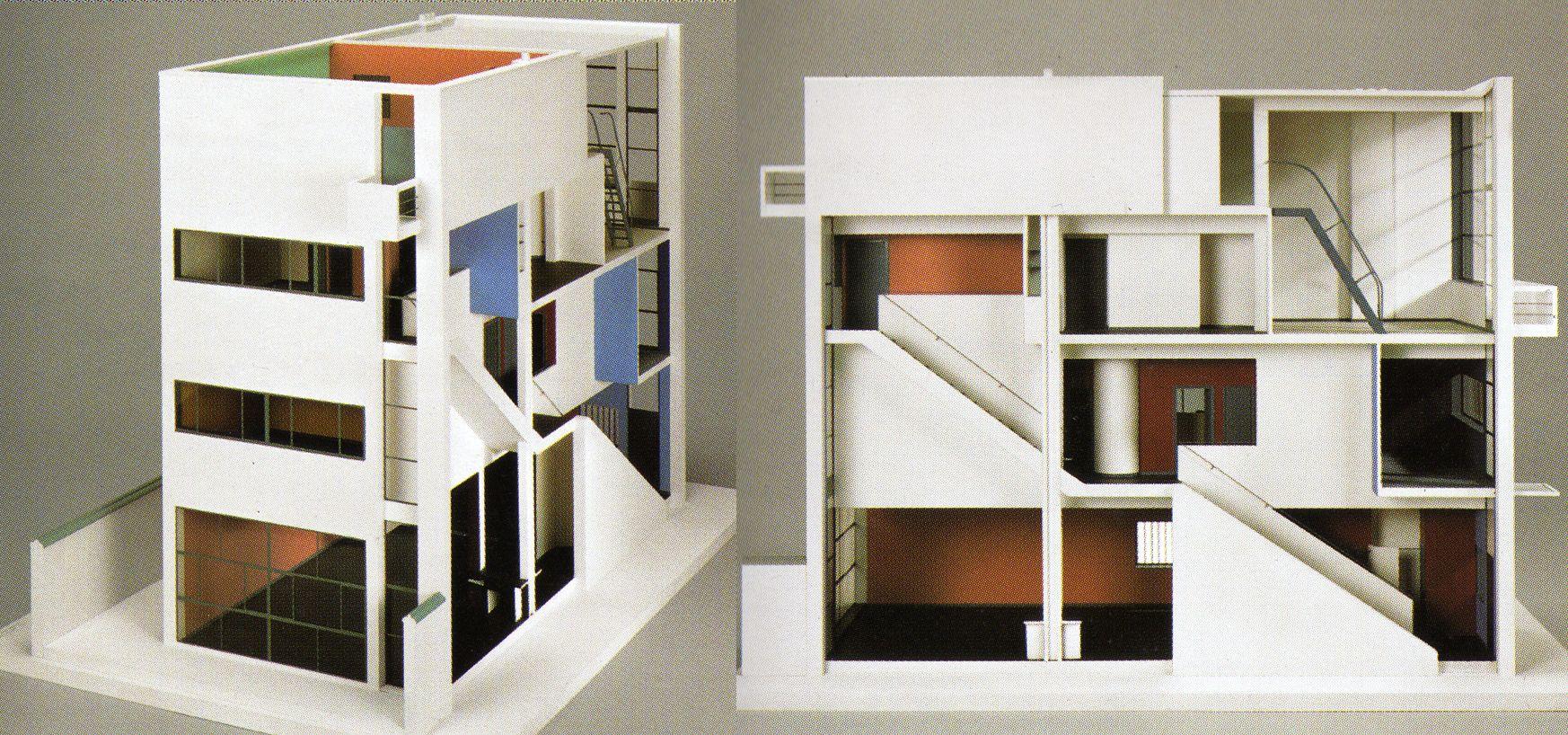 Le corbusier casa guiette ad anversa 1926 1927 modello for Bauhaus case in legno