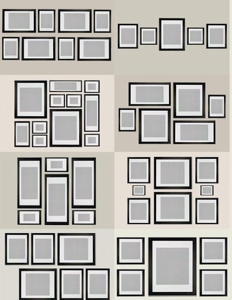 photo layout 2 DIY Gallery Style Photo Wall | Apartment | Pinterest ...