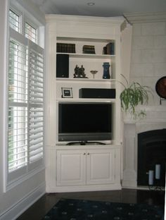 corner tv shelf built in - Google Search | TV STAND | Pinterest ...