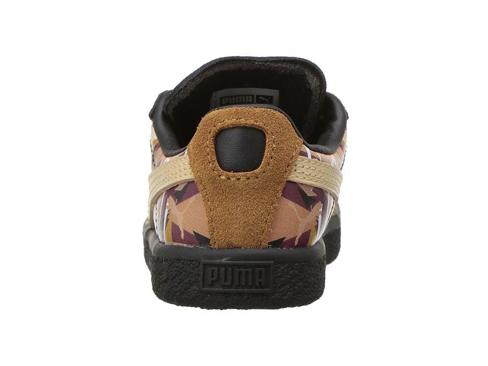 e2e6aa19891f Puma Kids Clyde Moon Jungle Naturel (Toddler) Kid s Shoes Chipmunk  Chocolate Brown Natural Vachetta