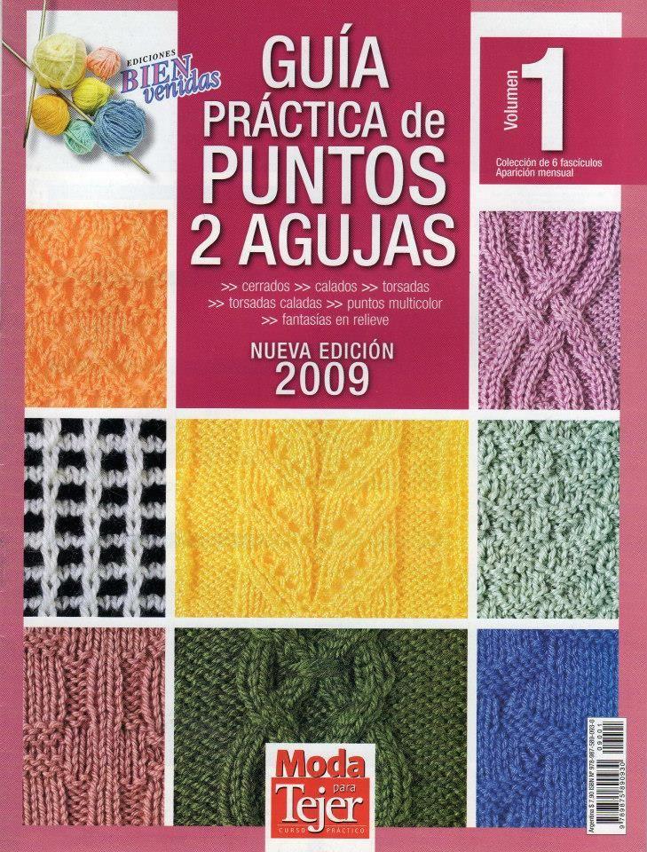 Revista #35: Guía Práctica de Puntos a 2 Agujas ~ CTejidas [Crochet ...