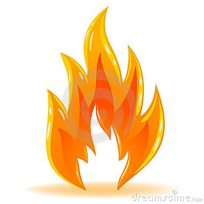 Vector Symbol Fire Shiny Flame Royalty Free Stock Photo