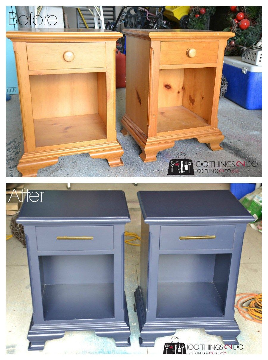 nightstand makeover hale navy in 2018 furniture ideas