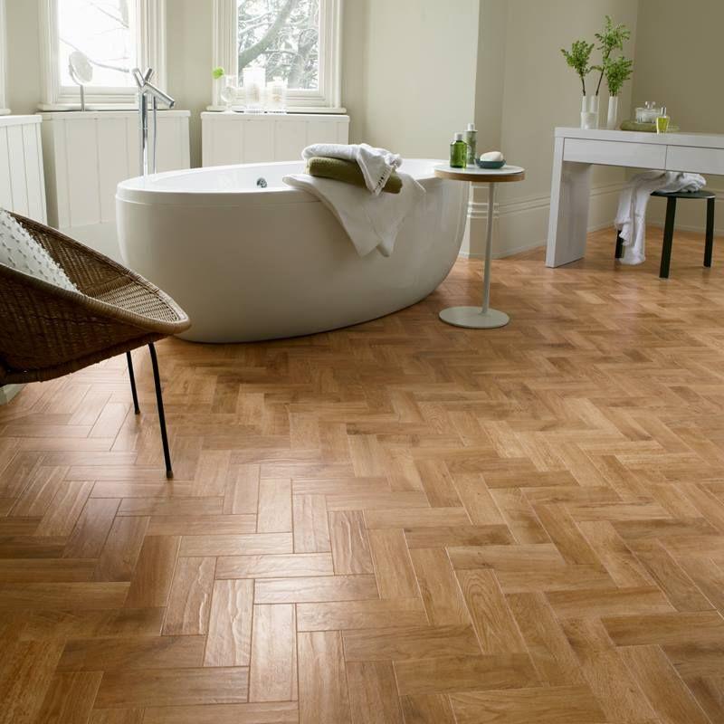 Create Boutique Hotel Style With Parquet Flooring Art Select Ap01 Blond Oak Parquet Karndean Flooring Oak Parquet Flooring Bathroom Flooring