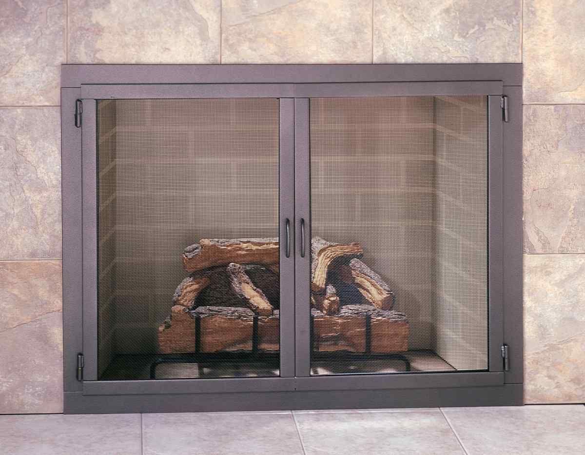 Shown In Picture Design Specialties Carolina Mesh Door Fireplace