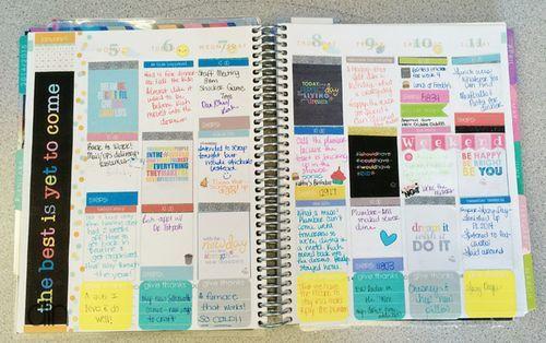 Weekly spread by Kimberly Lund. #erincondren #eclifeplanner #lifeplannerlove