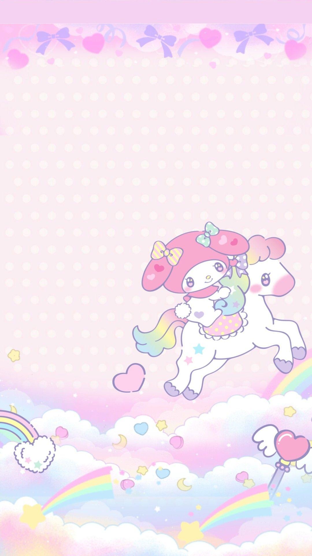 𝙹𝚎𝚗𝚗𝚕𝚘𝚟𝚎 Heymi243 My Melody Unicorn Wallpaper By Me
