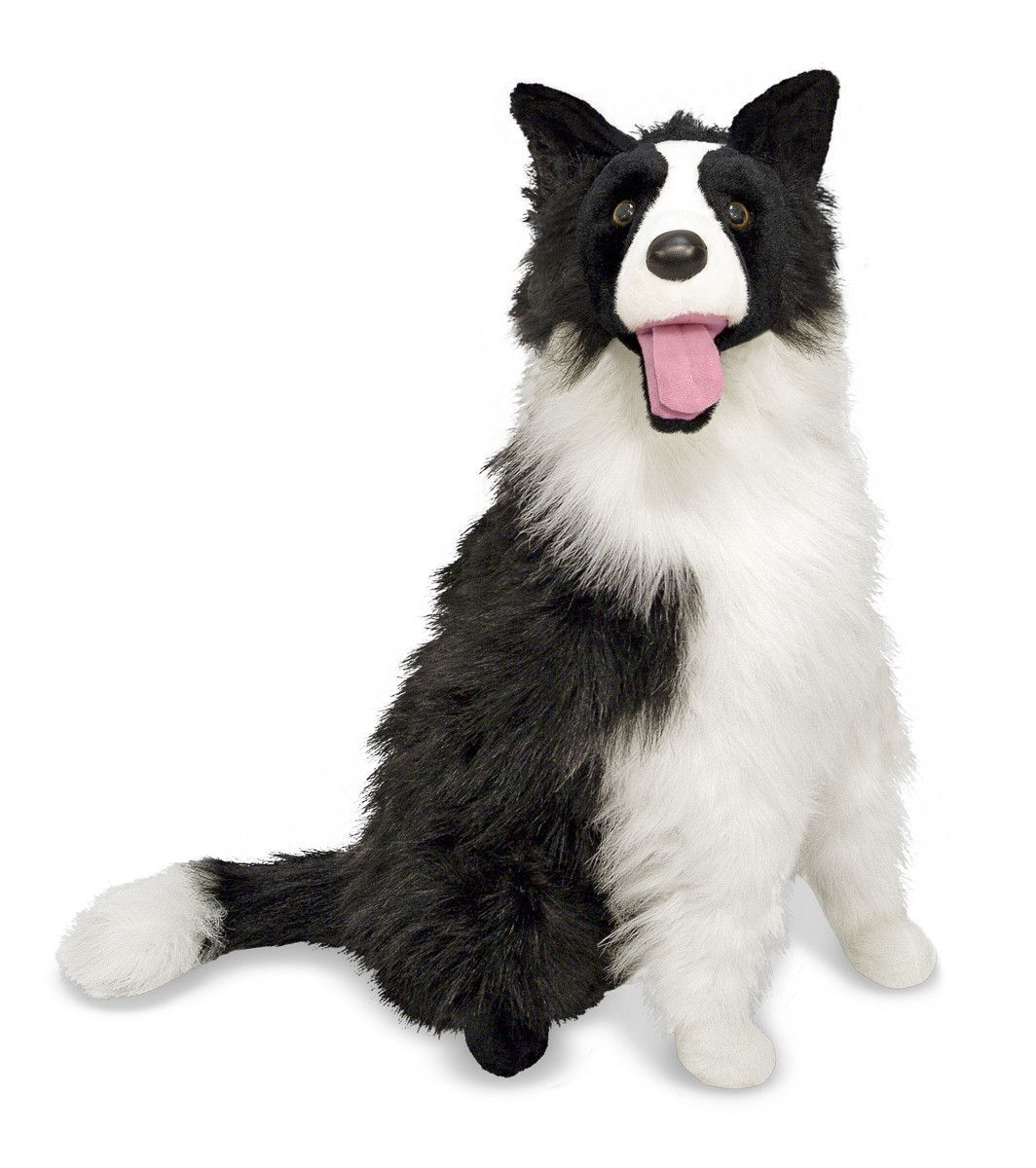 Melissa & Doug Border Collie Plush Giant stuffed