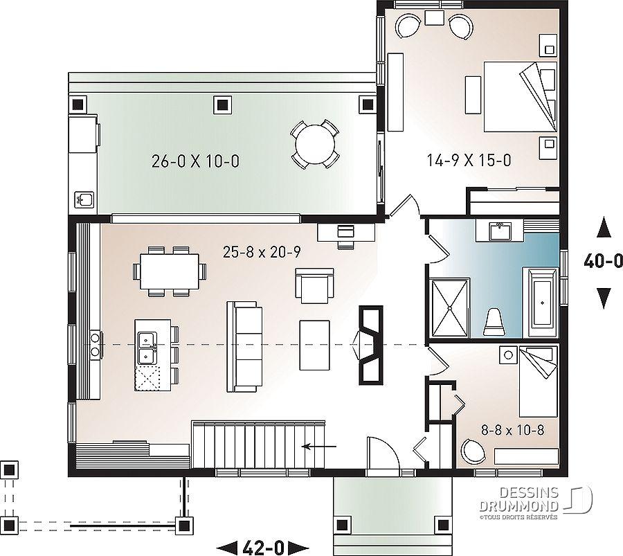 Plan De Maison Unifamiliale Olympe No 3992 Architop En