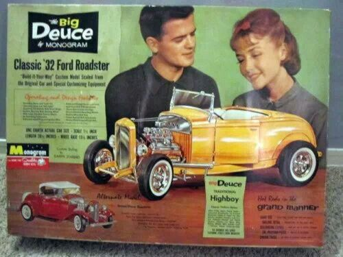 Monogram - The Deuce Big Scale model  Hot rods get the chicks -in