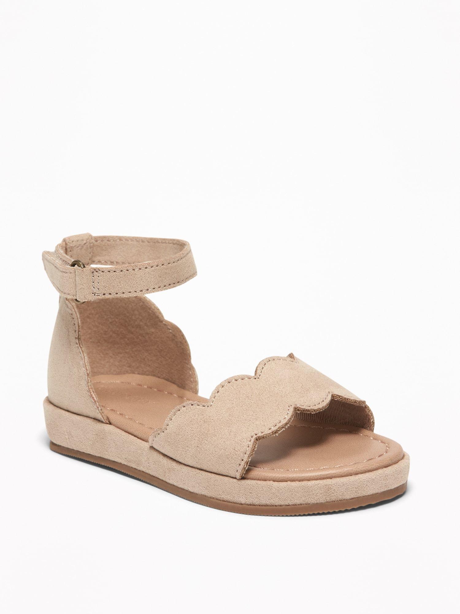 Sueded Platform Sandals For Toddler Girls Old Navy Little Girl Shoes Toddler Sandals Girl Girls Shoes Kids