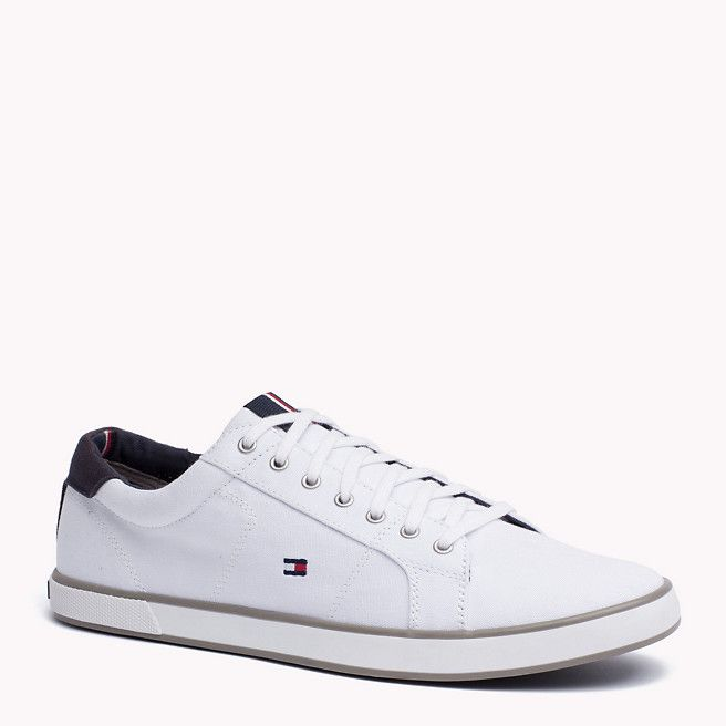 Canvas Sneaker Tommy Hilfiger White Trainers Tommy Hilfiger Sneakers