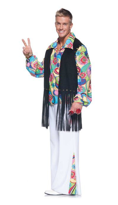 70s Outta Sight Costume Nice Example Of A Fringe Vest On A Guy 70s Costume 70s Halloween Costumes Mens Costumes