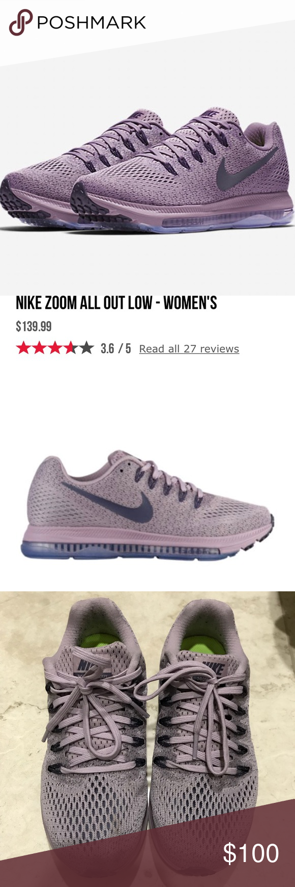 "3ca3dd54de9f NIKE zoom all out low PLUM Color is called ""plum fog dark raisin ..."