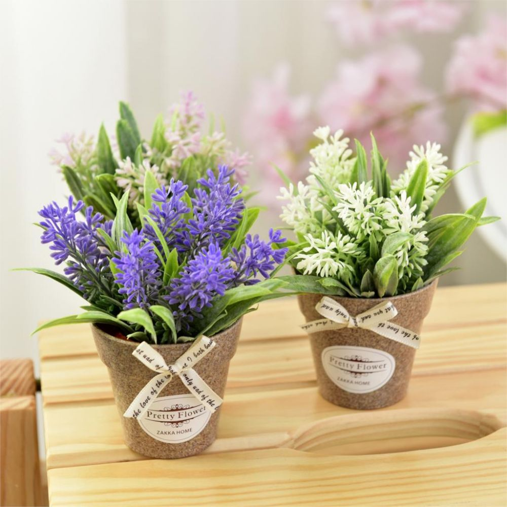 Artificial Potted Flowers Price Srd 1429 Beautiful Fake Flowers Grass With Plastic Pot Mini Bonsai Artific Flower Pots Artificial Flowers Flower Pot Design