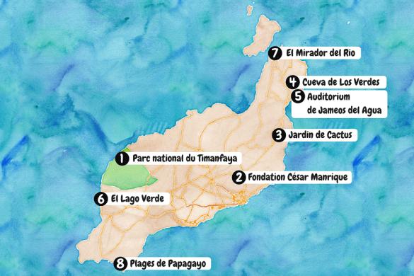 Carte Lanzarote Tourisme.Canaries Les 8 Lieux A Ne Pas Manquer A Lanzarote