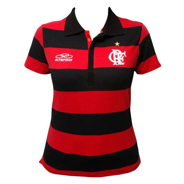 Camiseta polo preta olympikus flamengo