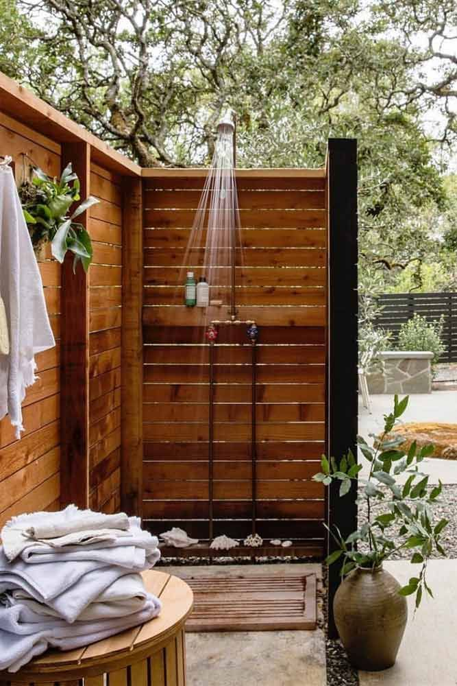 A Collection Of Outdoor Shower Ideas For Your Home Outdoor Shower Enclosure Outdoor Bathroom Design Diy Outdoor