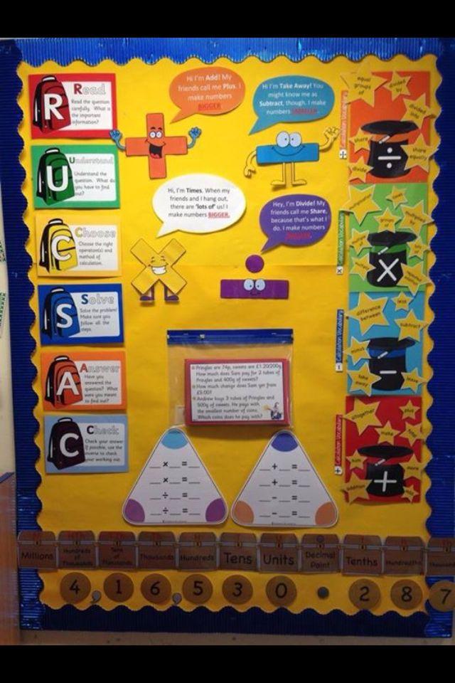Board Vocabulary Bulletin Ideas Math