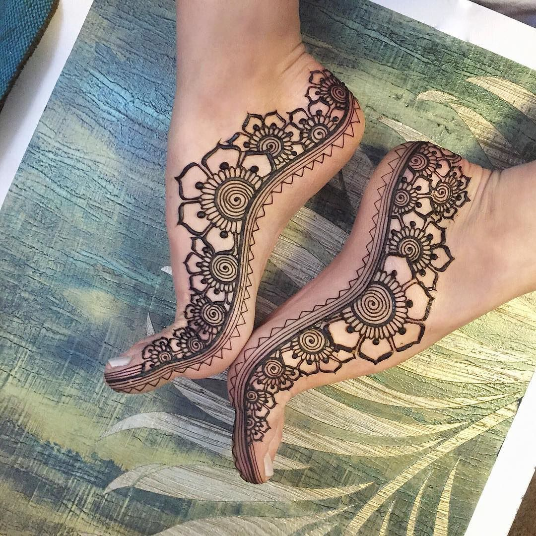 24 Henna Tattoos By Rachel Goldman You Must See: Mission Complete #flowerfeet