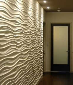 3d Architectural Wood Wall Panels | Wave Board Panel (MDF) Surface  Finishing Material