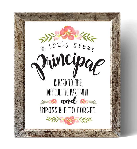 Principal Gift A Truly Great Principal Art Print Gift