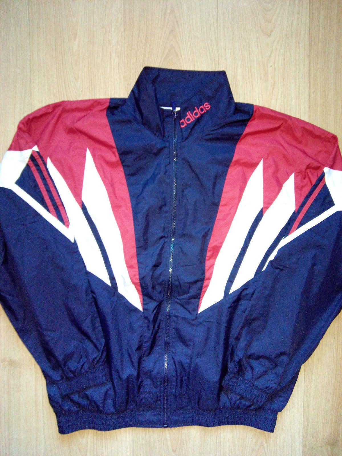 Adidas Originals 90's Vintage Mens Tracksuit Top Jacket