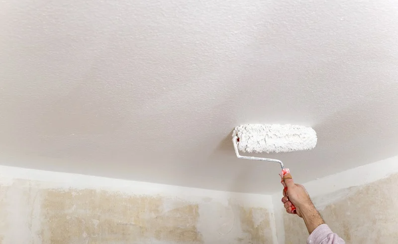 Homeadvisor S Popcorn Ceiling Painting Guide Provides Info On The Best Paint Type Rollers Sprays An Ceiling Texture Painting Popcorn Ceiling Popcorn Ceiling
