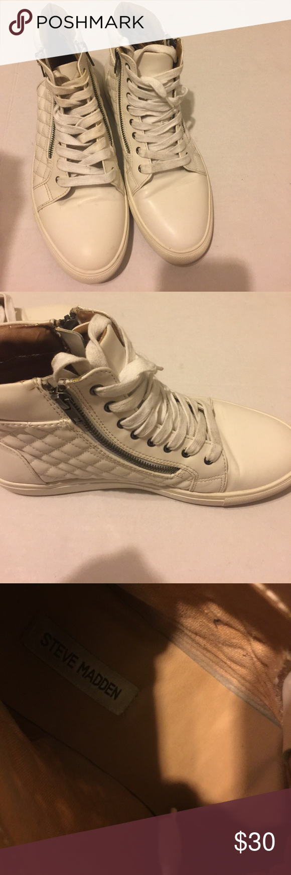 e6201039e5c Steve Madden Quilted High Top MENS 10 Good condition MENS 10 M. The Steve  Madden